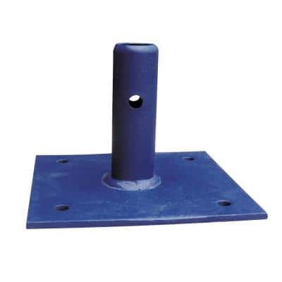 6 in. x 6 in. x 4.5 in. Steel Scaffolding Base Plate, Tool/Equipment for Standard or Arched Scaffold Frame Set