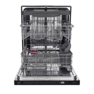 24 in. Stainless Steel Top Control Smart Built-In Tall Tub Dishwasher 120-volt with Stainless Steel Tub, Steam Cleaning