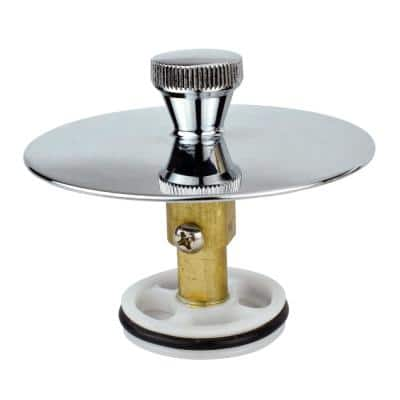 3/4 in. Universal Quick Cover Up Bath Drain Stopper in Polished Chrome