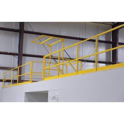 42 in. Square Steel Mezzanine Safety Gate