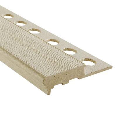 Novopeldano MaxiKenya Almond 3/8 in. x 98-1/2 in. Composite Maxi Stair Nosing Trim