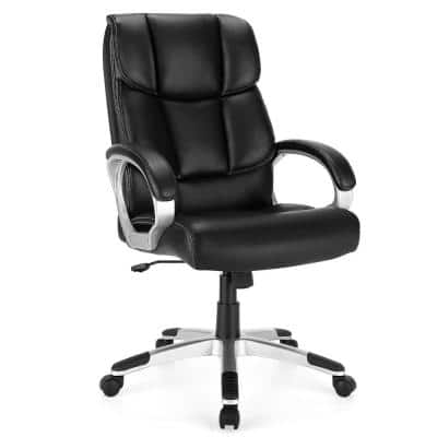 Black Executive High Back Big and Tall Leather Adjustable Computer Desk Chair