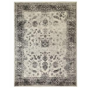 Old Treasures Gray 4 ft. x 6 ft. Area Rug