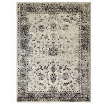 Old Treasures Gray 9 ft. x 13 ft. Area Rug