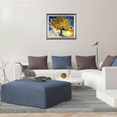 """29 in. x 25 in. """"The Mulberry Tree with Athenian Silver Frame """" by Vincent Van Gogh Framed Wall Art"""