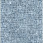 Navy Poplin Textured Blue Wallpaper Sample