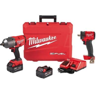 M18 FUEL 18-Volt Lithium-Ion Brushless Cordless 1/2 in. Impact Wrench with Friction Ring Kit (2-Tool)