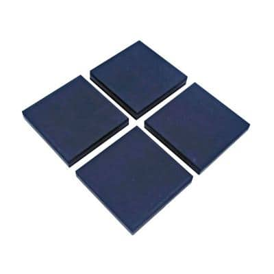 4 in. x 4 in. x 3/8 in. Black Vibration Control Utility Pads (4 per Pack)