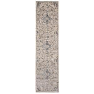 Amer Rugs Balpoma Sherrie Tan Gray 3 Ft 11 In X 5 Ft 11 In Transitional Medallion Polypropylene And Polyester Area Rug Blm2 311511ar The Home Depot