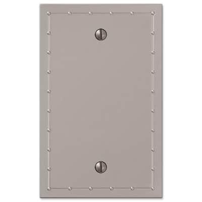 Rosa 1 Gang Blank Metal Wall Plate - Satin Nickel