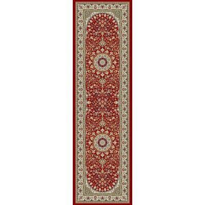 Nicholson Red/Ivory 2 ft. x 8 ft. Indoor Runner Rug