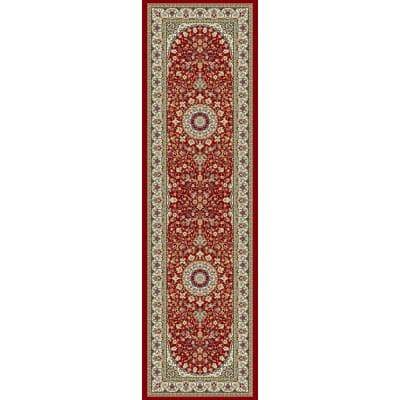 Nicholson Red/Ivory 2 ft. x 11 ft. Indoor Runner Rug