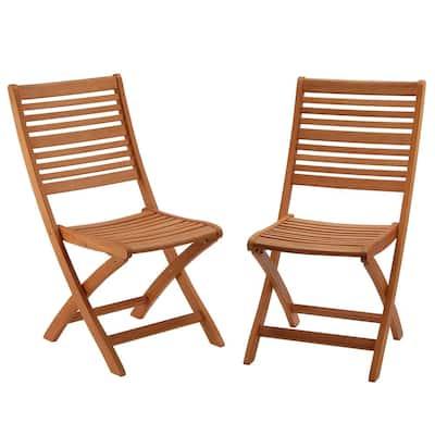 Eucalyptus Grandis Wood Folding Lawn Chair, Set of 2