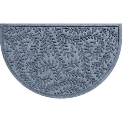 Boxwood 24 in. x 39 in. Half Round PET Polyester Doormat
