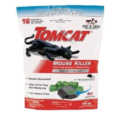 Mouse Killer Child and Dog Resistant Refillable Station, 1 Station with 16 Baits