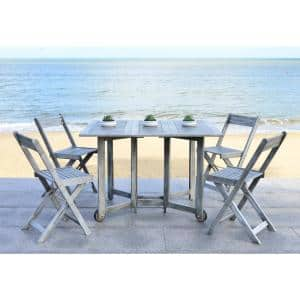 Arvin Gray Wash 5-Piece Wood Outdoor Dining Set