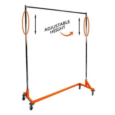 Orange Z Metal Clothes Rack 63 in. W x 84 in.