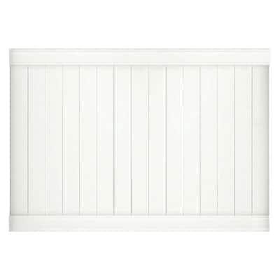 Pro-Series 5 ft. H x 8 ft. W White Vinyl Woodbridge Privacy Fence Panel
