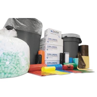 High-Density Trash Can Liner, 43 x 46, 60-Gallon, 12 Micron, Clear, 250/Carton