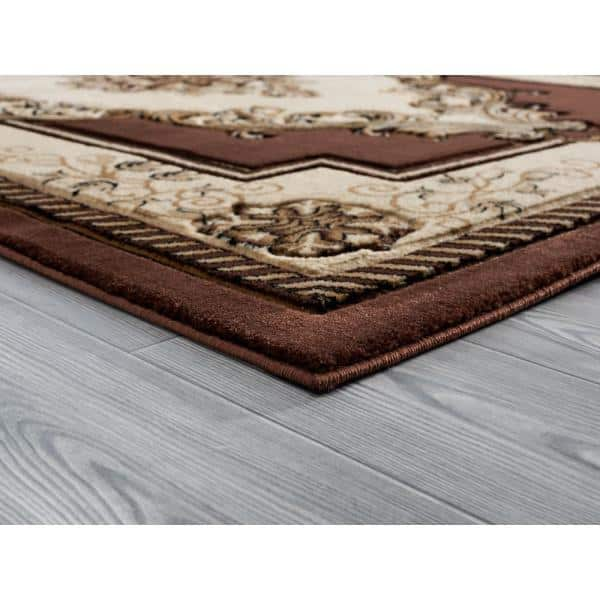 United Weavers Bristol Fallon Chocolate 2 Ft 7 In X 7 Ft 4 In Area Rug 2050 10551 28c The Home Depot