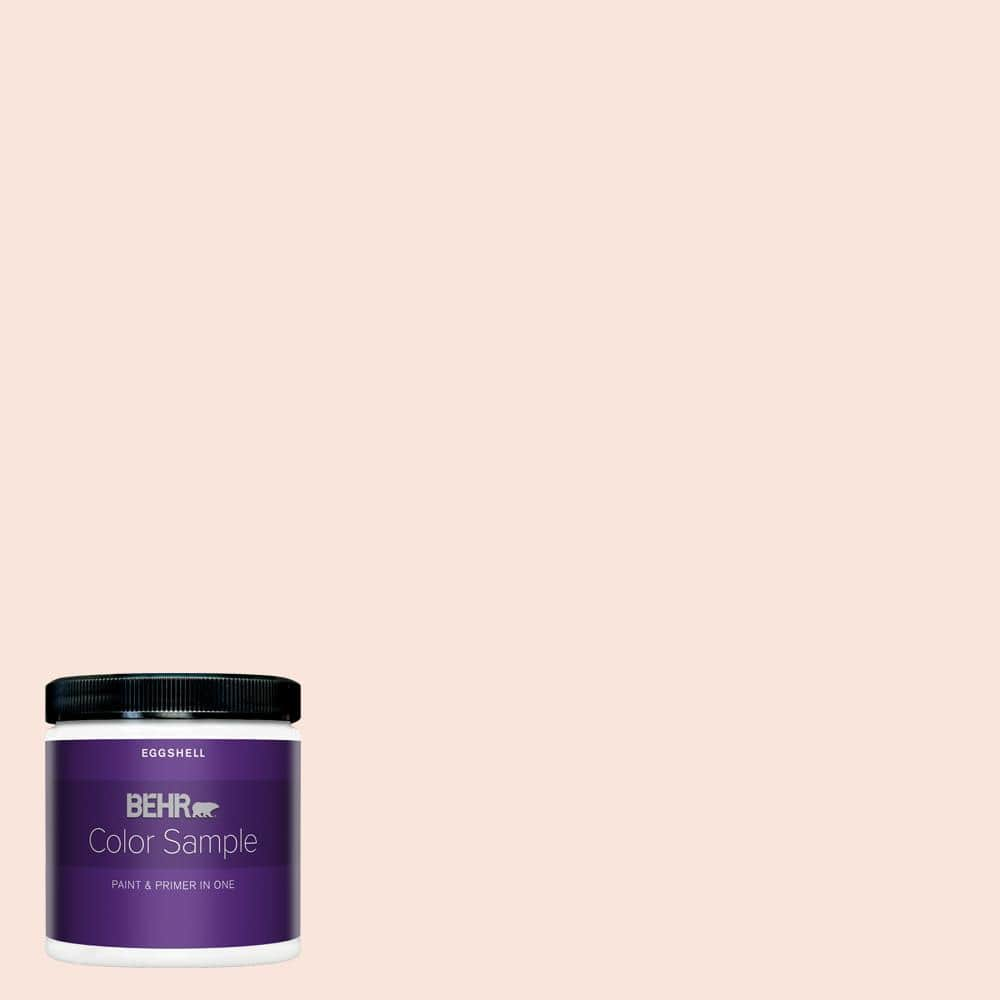 Behr Premium Plus 8 Oz 190a 1 Soft Pink Eggshell Enamel Interior Paint And Primer In One Sample B320016 The Home Depot