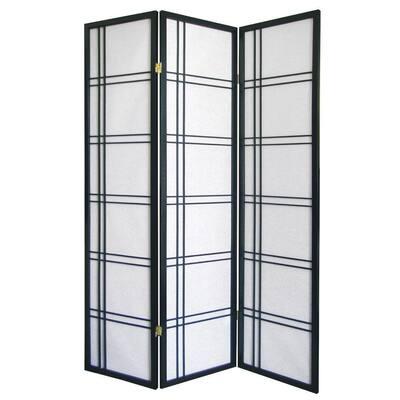 Girard Black 3-Panel Room Divider