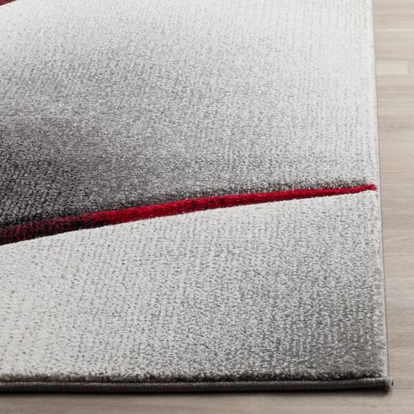 Safavieh Hollywood Gray Red 2 Ft X 14 Ft Runner Rug Hlw712k 214 The Home Depot