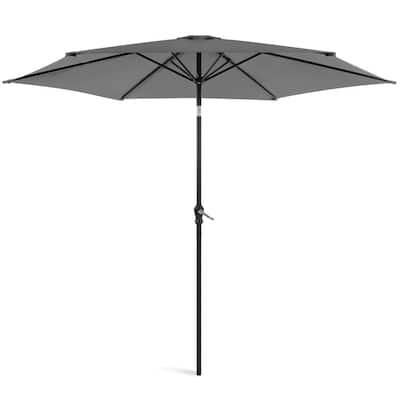 10 ft. Market Tilt Patio Umbrella in Gray