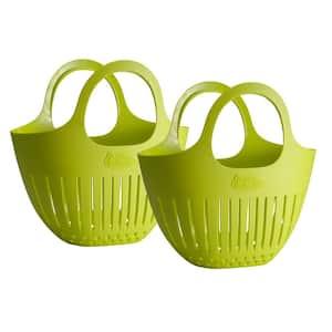Green Mini Garden Colander Harvest Basket 2-Pack