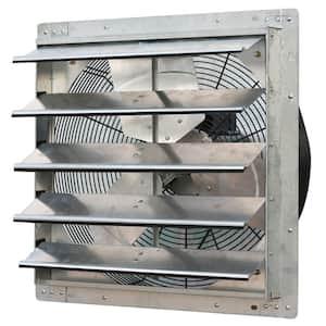 3368 CFM Silver Electric Powered Gable Mount Shutter Fan/Vent
