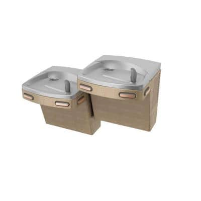 Barrier-Free Versacooler II Push-Button Refrigerated Drinking Fountain Faucet in Sandstone Powder Finish