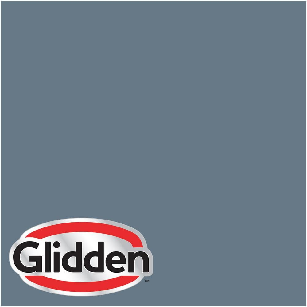 Glidden Premium 1 Gal Hdgv13u Mountain Slate Blue Satin Latex Exterior Paint Hdgv13upx 01sa The Home Depot