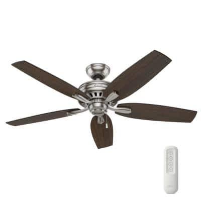 Newsome 52 in. Indoor Brushed Nickel Ceiling Fan with Remote