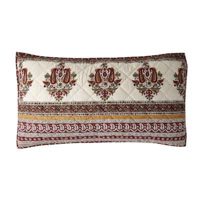 Margaux Multicolored Geometric Textured Cotton King Sham