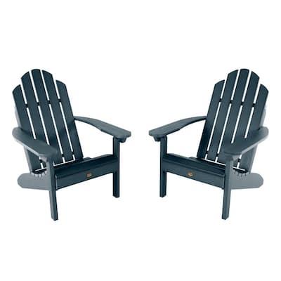 Classic Westport Federal Blue Plastic Adirondack Chair (2-Pack)