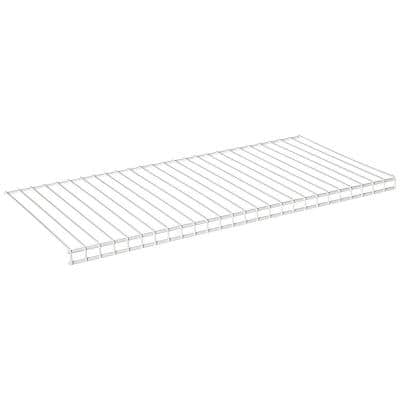 12 in. D x 26 in. W x 4.5 in. H Configurations White Add-On Shoe Shelf Kit Wire Closet System