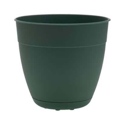 Dayton 12 in. Turtle Green Recycled Ocean Plastic Planter with Saucer