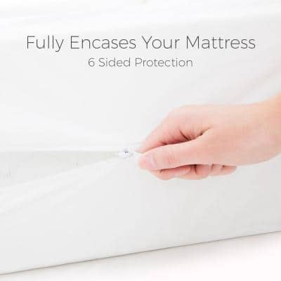 Zippered Encasement Dust Mite and Bed Bug Proof Mattress Protector