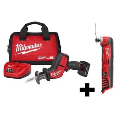 M12 FUEL 12-Volt Lithium-Ion Brushless Cordless HACKZALL Reciprocating Saw Kit W/ M12 Multi-Tool