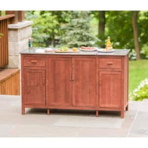 60 in. Patio Buffet Server with Cooler Compartment