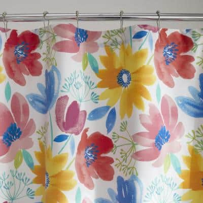 Company Cotton Blossom Percale 72 in. Floral Shower Curtain