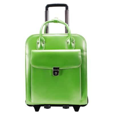 McKlein La Grange 15 in. Top Grain Cowhide Leather Detachable - Wheeled Ladies Laptop Briefcase