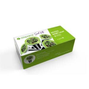 Organic Mixed Baby Leaf 8-Capsule Vegetable Seed Kit