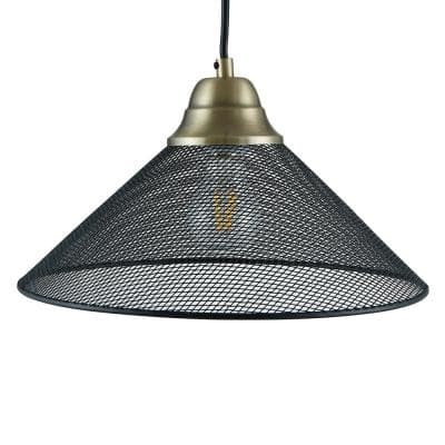 Hesta 1-Light Black Downlight Pendant Lamp