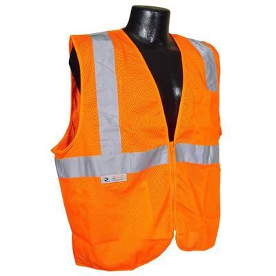 Self Extinguishing Orange Mesh Medium Safety Vest