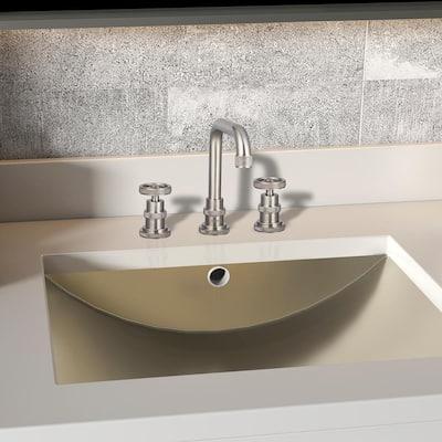 8 in. Widespread 2-Handle High-Arc Bathroom Faucet in Brushed Nickel