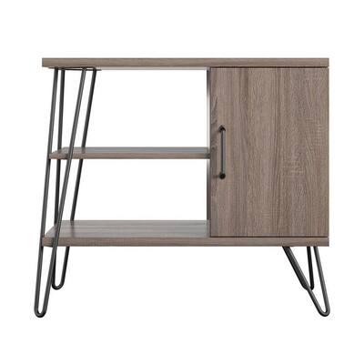 Shanewood Distressed Gray Oak Bookcase (3-Shelf)