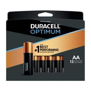 Optimum AA and AAA Alkaline Battery Assortment Pack (12-Count, 2-Pack)