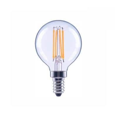 60-Watt Equivalent G16. 5 Globe Dimmable Clear Glass Filament Vintage LED Light Bulb Daylight (48-Pack)