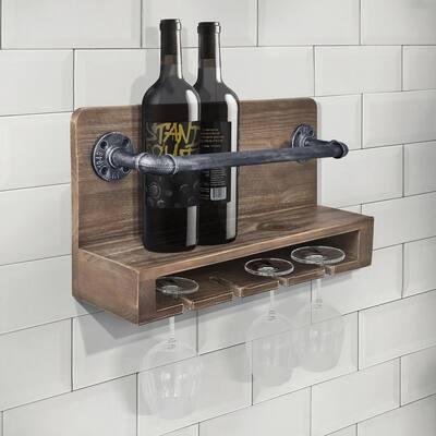 Vox 6-Bottle Industrial Grey Wine Rack
